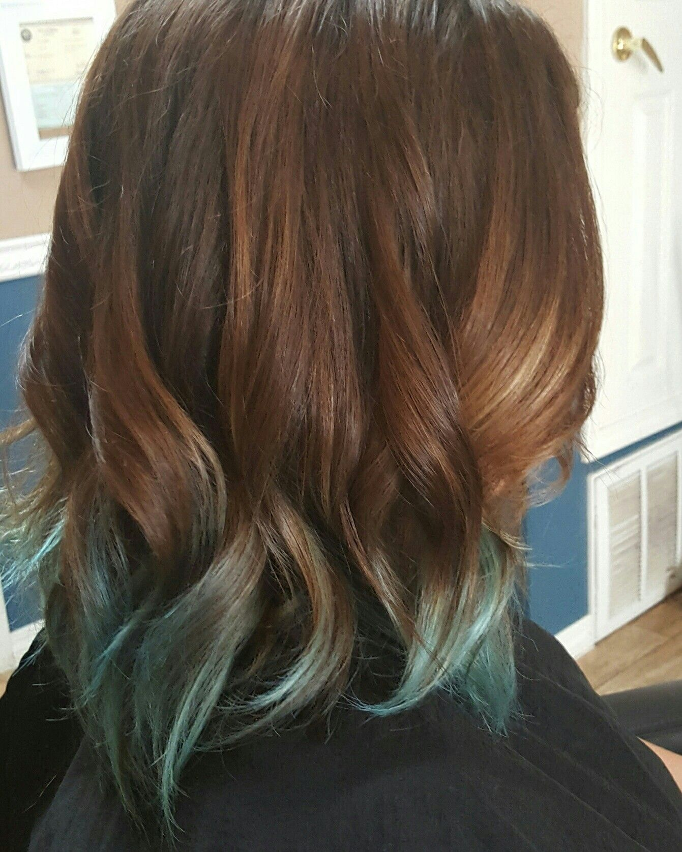 Beautiful baby blue ombre the shabby to chic salon pinterest