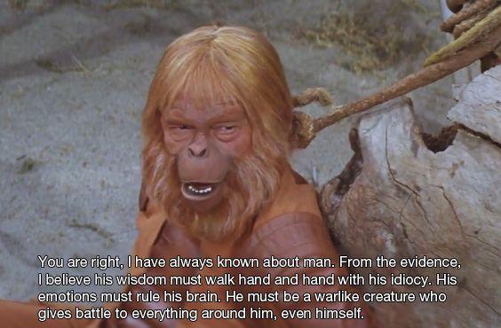Resultado de imagen de Frases de EL planeta de los simios de 1968