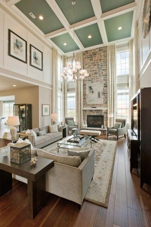 View this Great Traditional Living Room with High ceiling & Crown ...
