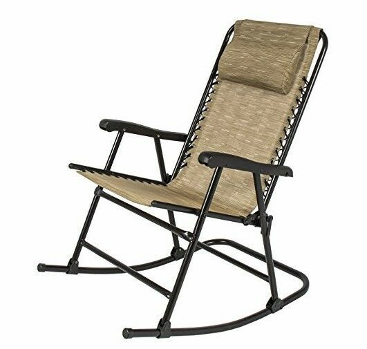 Awe Inspiring Folding Rocking Chair Lawn Patio Zero Gravity Sling Back Cjindustries Chair Design For Home Cjindustriesco