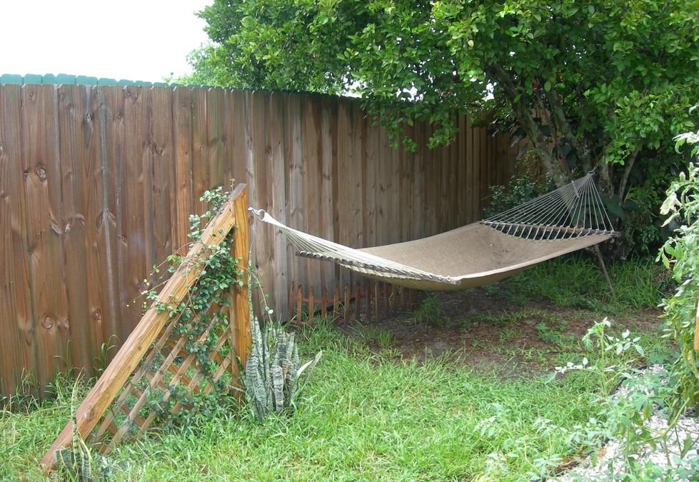 make your own hammock stands when you don u0027t have two trees  we wanted a hammock but there is only one tree  so i made this      rh   pinterest