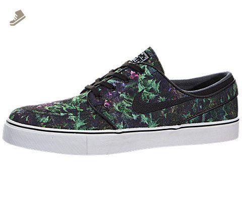 on sale 03061 80dba Nike Zoom Stefan Janoski Canvas Premium Skate Shoe - Mens Gorge  Green Black-White