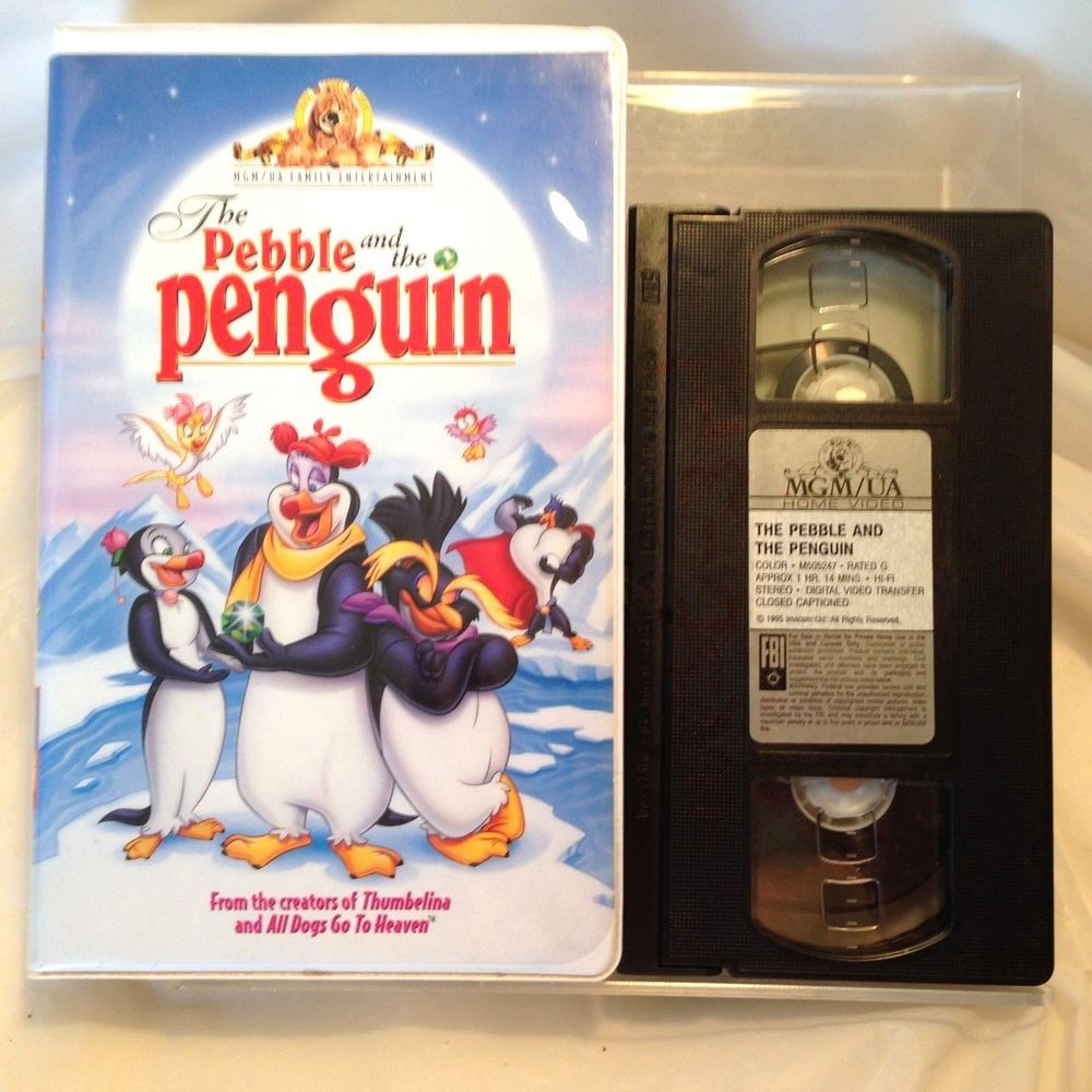 The Pebble And The Penguin (VHS 1995) Clam Shell Case