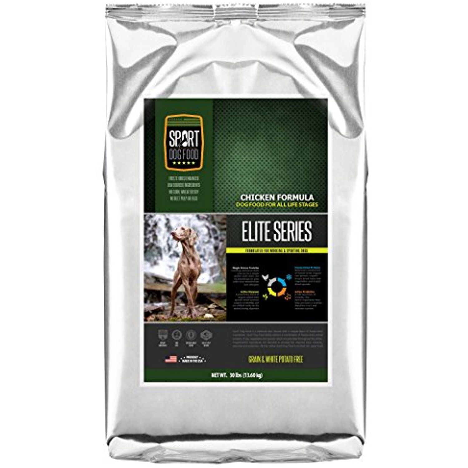Sportdogfood Elite Grain Free Dog Food Chicken Formula 30 Pound