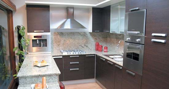 Cocinas modernas peque as kitchens roof ideas and for Cocinas integrales pequenas