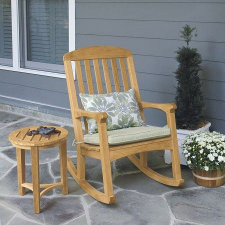 Teak Outdoor Chairs Linden Rocking Chair Country Casual Furniture Pinterest Rocking