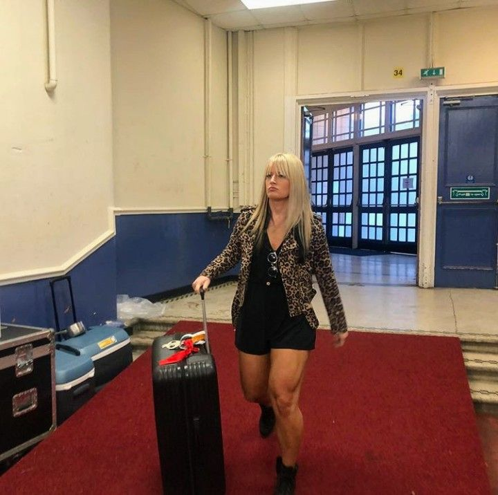 Toni Storm arrival at #NXTUKTakeover | Wwe womens, Wwe, Female wrestlers