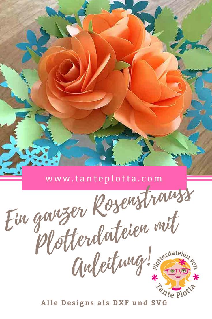 Plotterdatei Rose Mit Genauer Anleitung Plotterdatei