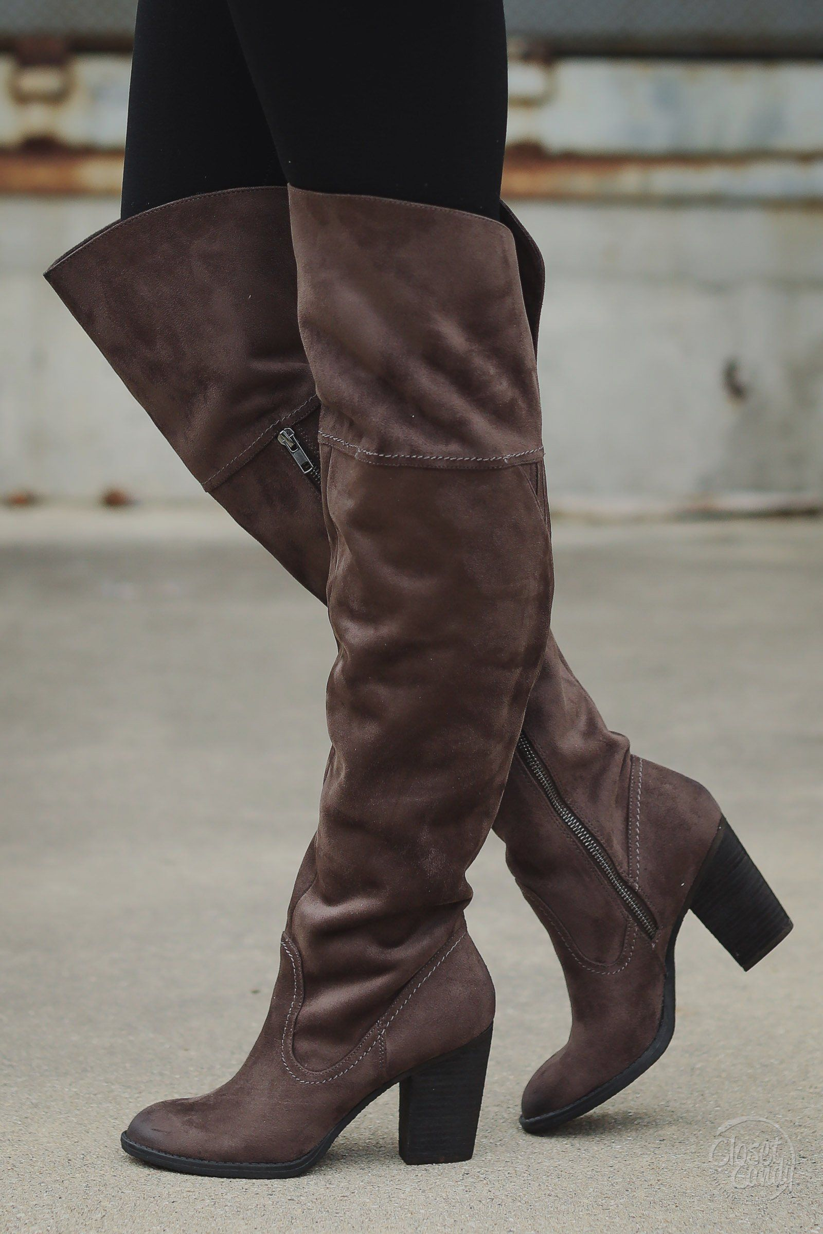 Andra Over-The-Knee Boots - Chocolate