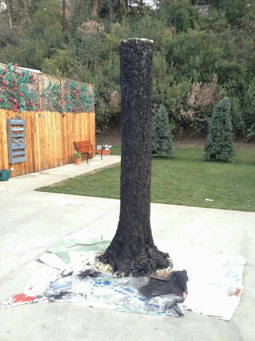 How To Make A Foam Tree Trunk Tree Props Fake Trees Tree