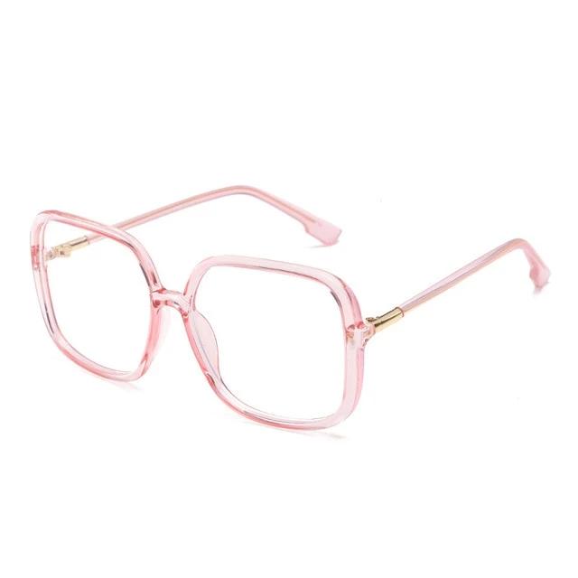 Oversize Square Anti-blue Light Glasses Frame For Women Big Eyeglasses GV2083
