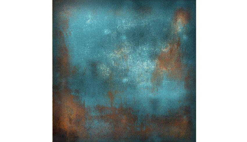 papier peint mur de metal rouill bleu int rieur industriel pinterest peindre mur m tal. Black Bedroom Furniture Sets. Home Design Ideas