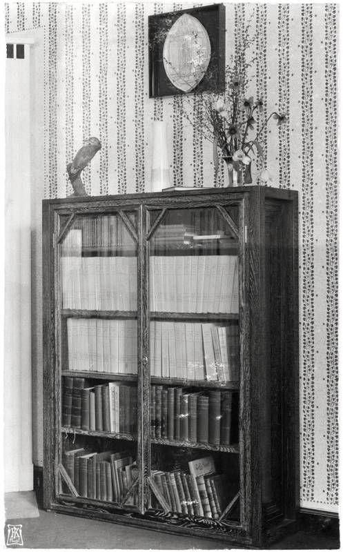 Objektbezeichnung Fotografie Titel Bücherkasten Herrenzimmer