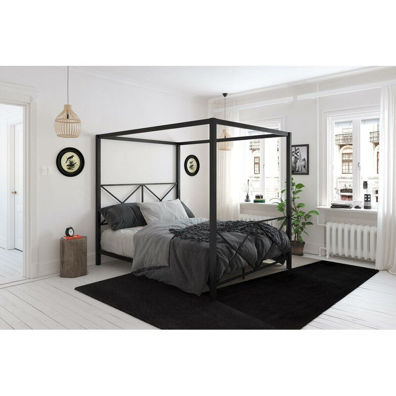 Willa Arlo Interiors Gilma Canopy Bed, Modern Canopy Queen Metal Bed Instructions