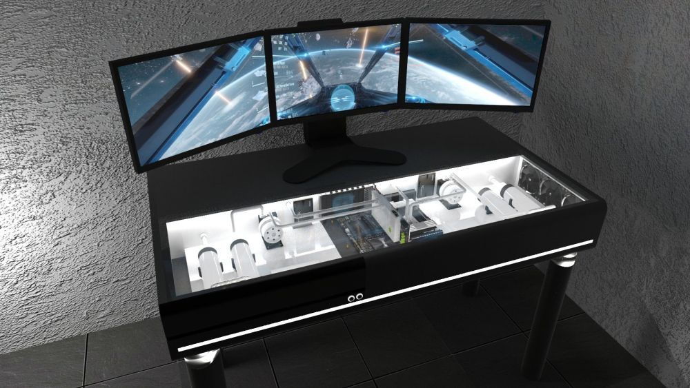 Pandoradvanced Prepares Its Jetblack Desk Pc Case Pandoradvanced News Ocaholic Work