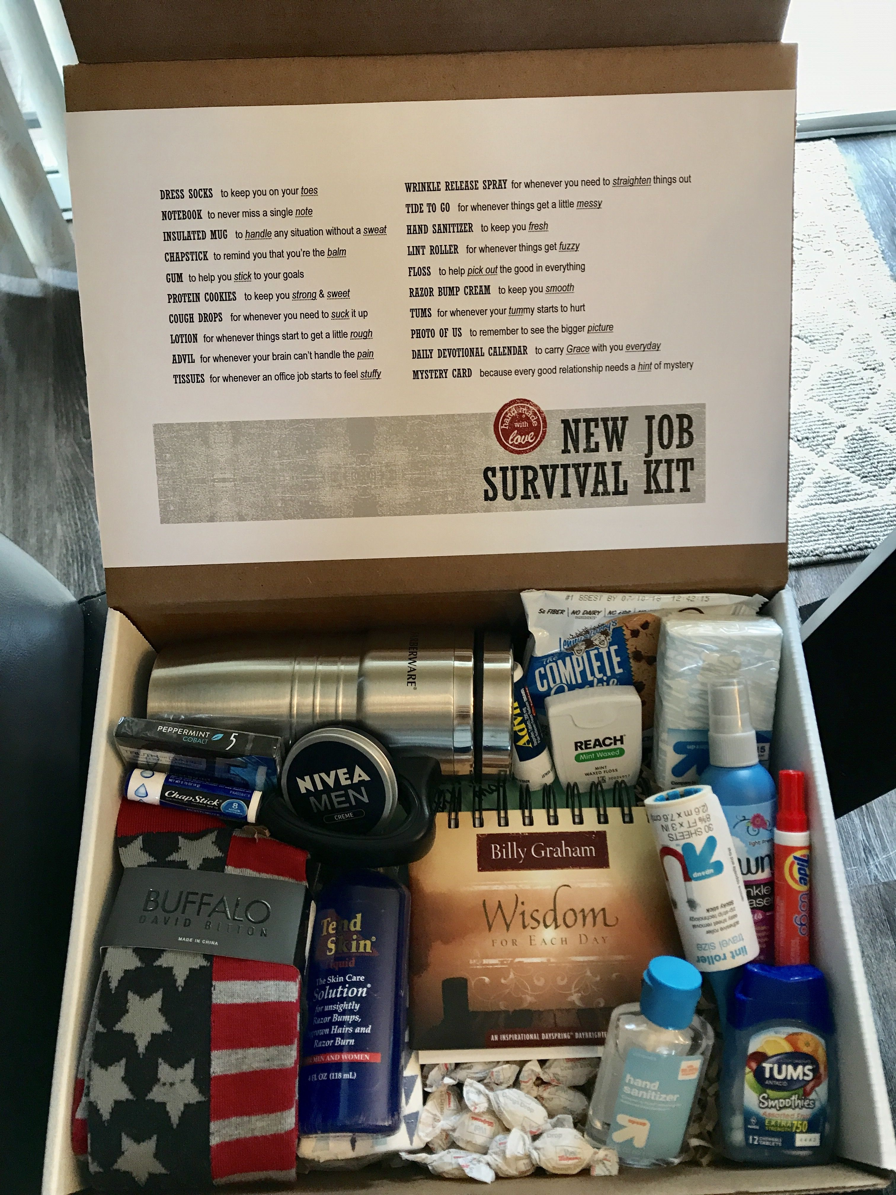 Diy New Job Survival Kit For Boyfriend With Images New