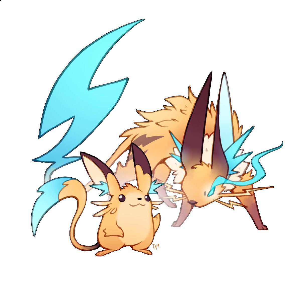 Zestydoesthings Thank You For So Much Love On The Gen1 Starter Pokemon Starters Pikachu Pokemon Rpg Raiju the thunder beast from the story japan's folklore stories by did you know that in pokémon, raichu is based on a legendary creature in japanese folklore called raijū. pinterest