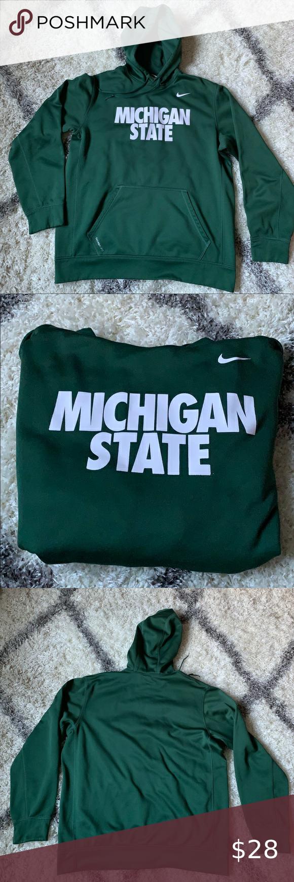 Men S Nike Michigan State Therma Fit Hoodie Workout Hoodie Hoodies State Hoodie [ 1740 x 580 Pixel ]