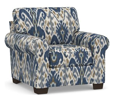 Buchanan Roll Arm Upholstered Armchair Polyester Wrapped