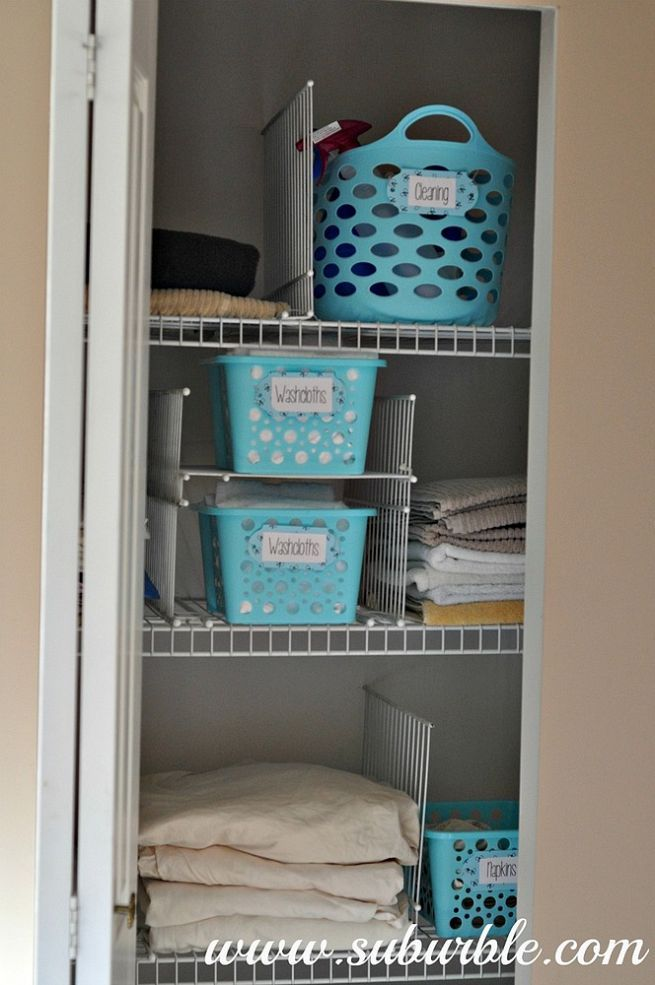This hack will keep your linen closet organized for good! | Hometalk ...