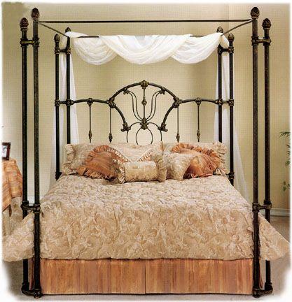 Elliott S Designs Tiffany 403 Wrap Open Toe Canopy Bed Wrought Rod Iron Beds Antique Reproductions Camas De Hierro Forjado