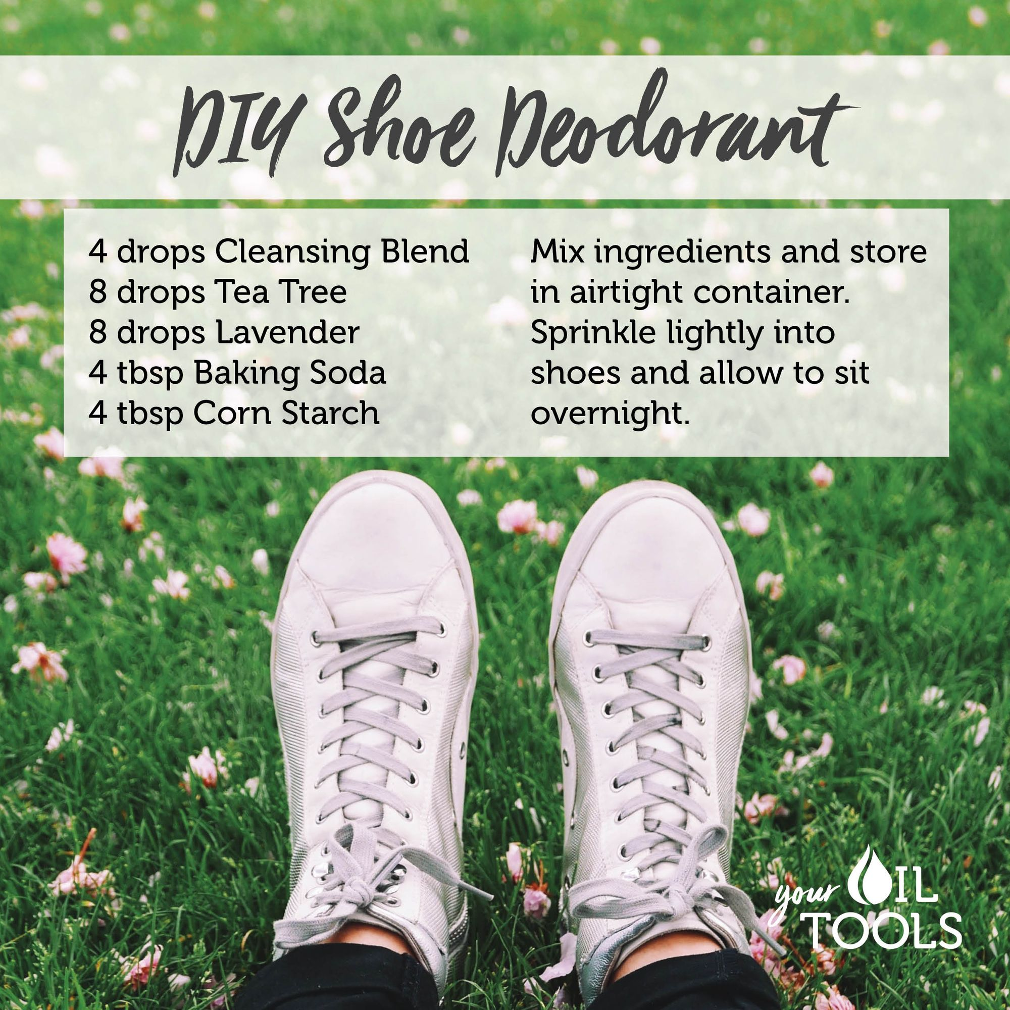 Do you have stinky shoes try this diy shoe deodorant