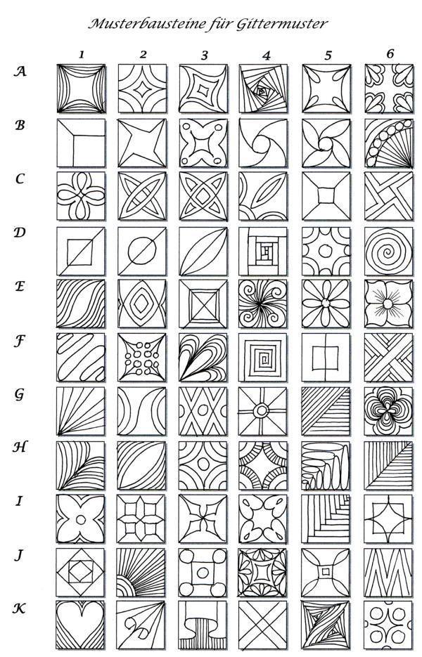 Pattern Selection Solution For Grid Pattern Zeichnen Lernen