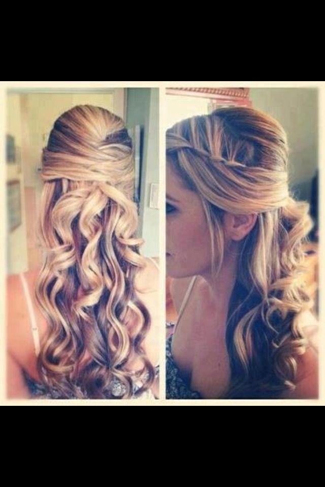 Prom hair. Curls. Braid. Long hair styles. | Hairstyles (: