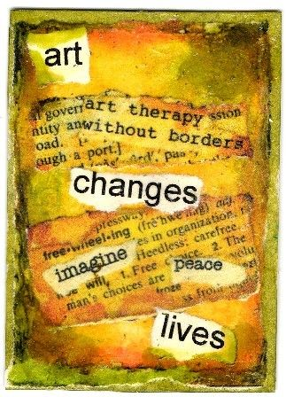 A collage from the Art Therapy Alliance swap. #ATC