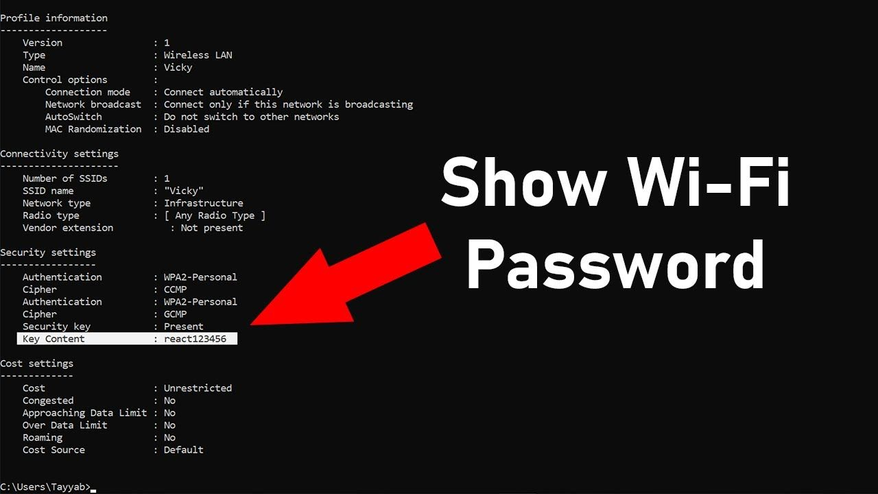 How to Find WiFi Password Using CMD on Windows 10,8,7