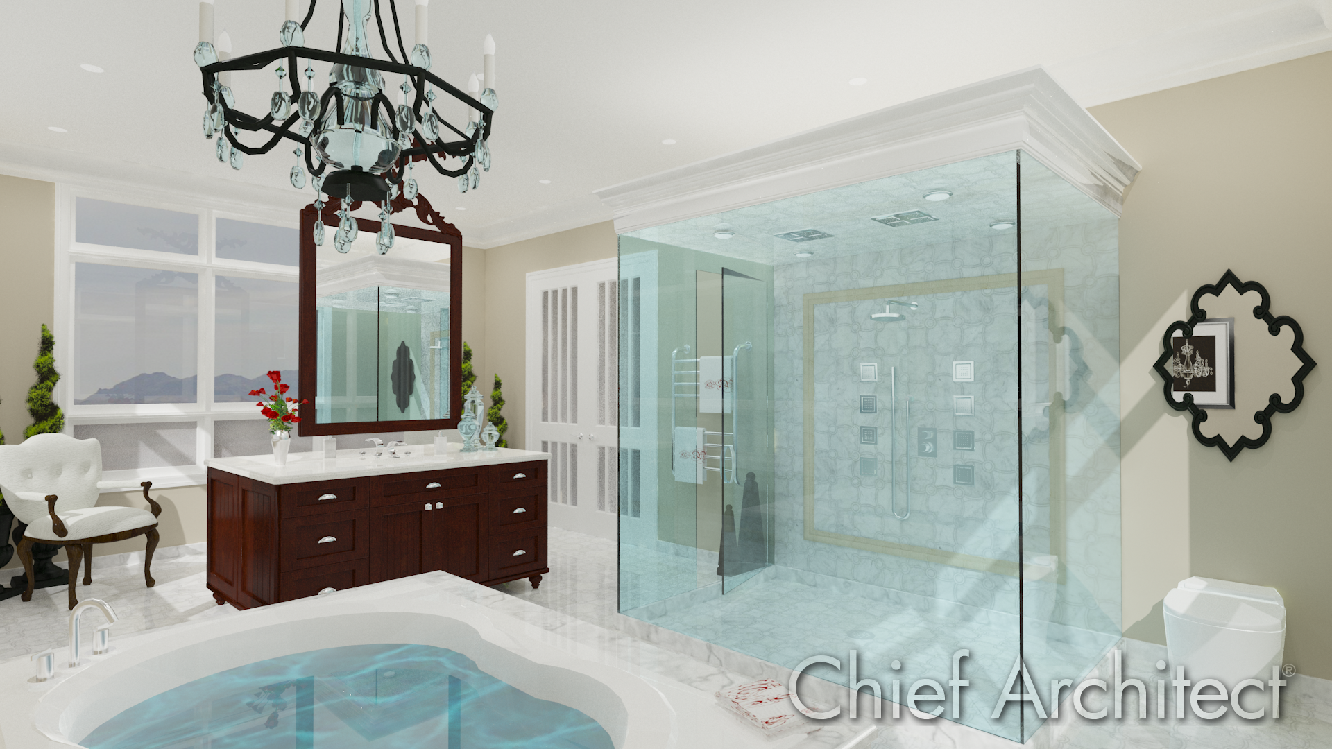 Bathroom Software Design Free Delectable Chandelier Bath  Chief Architect Software  Rendersideas Design Ideas