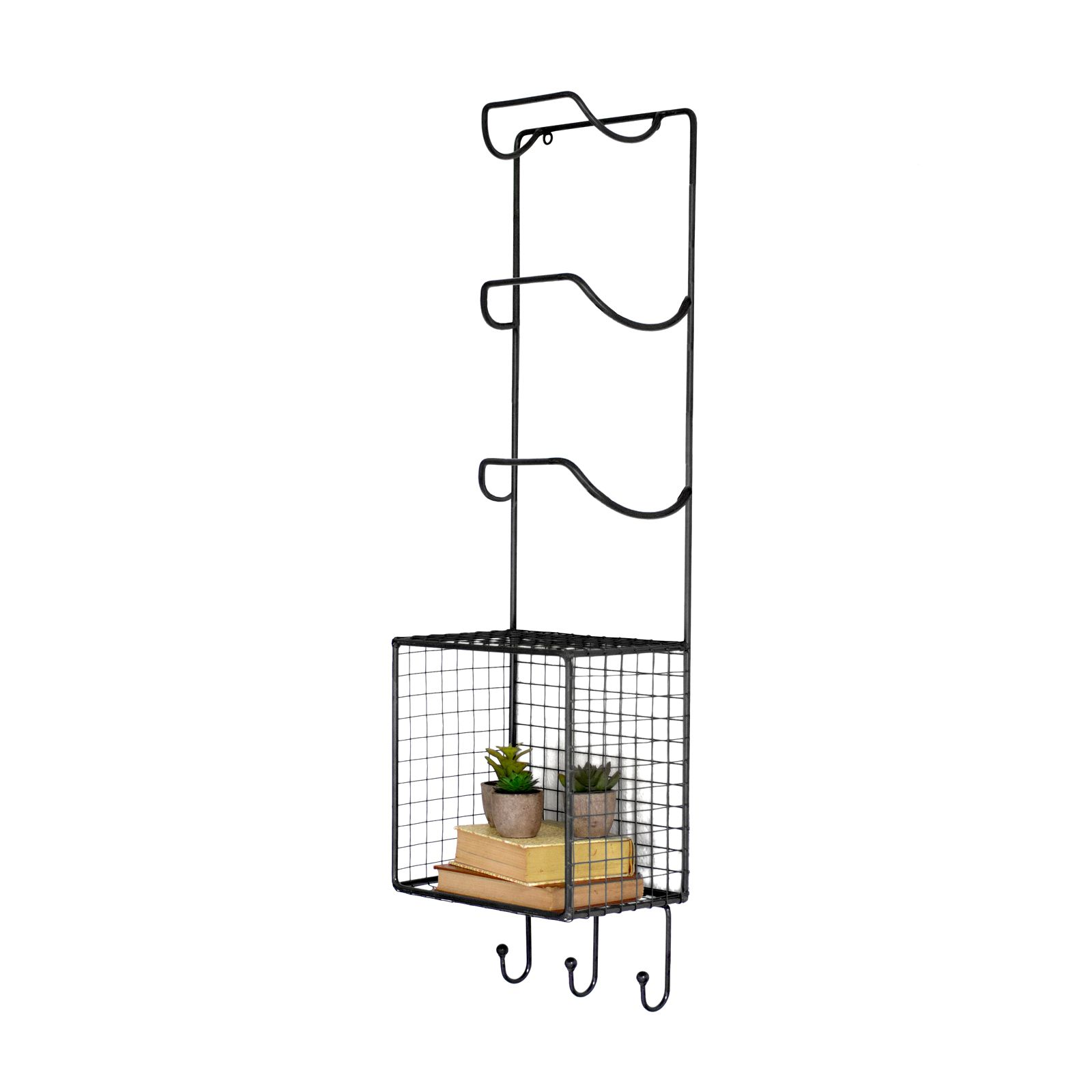 Wire Butler Wall Rack | dotandbo.com - could be cute in the guest ...