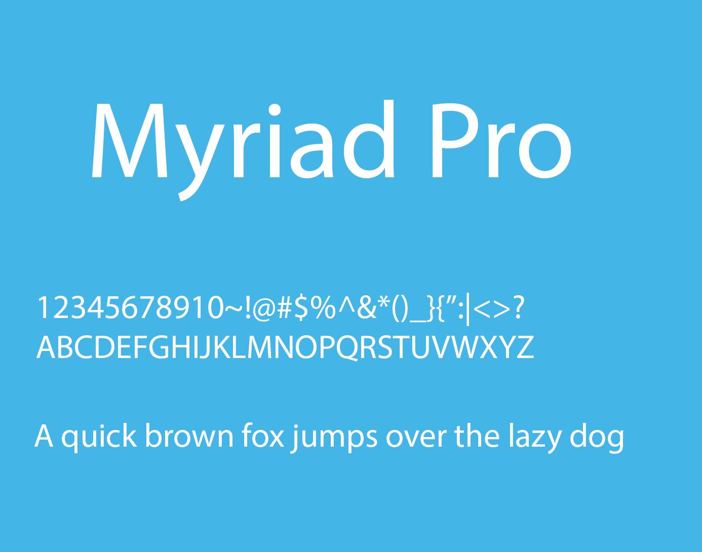 Myriad pro шрифт скачать