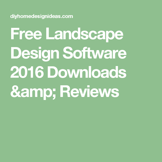 Diy Home Design Ideas Com: Free Landscape Design Software 2016 Downloads & Reviews