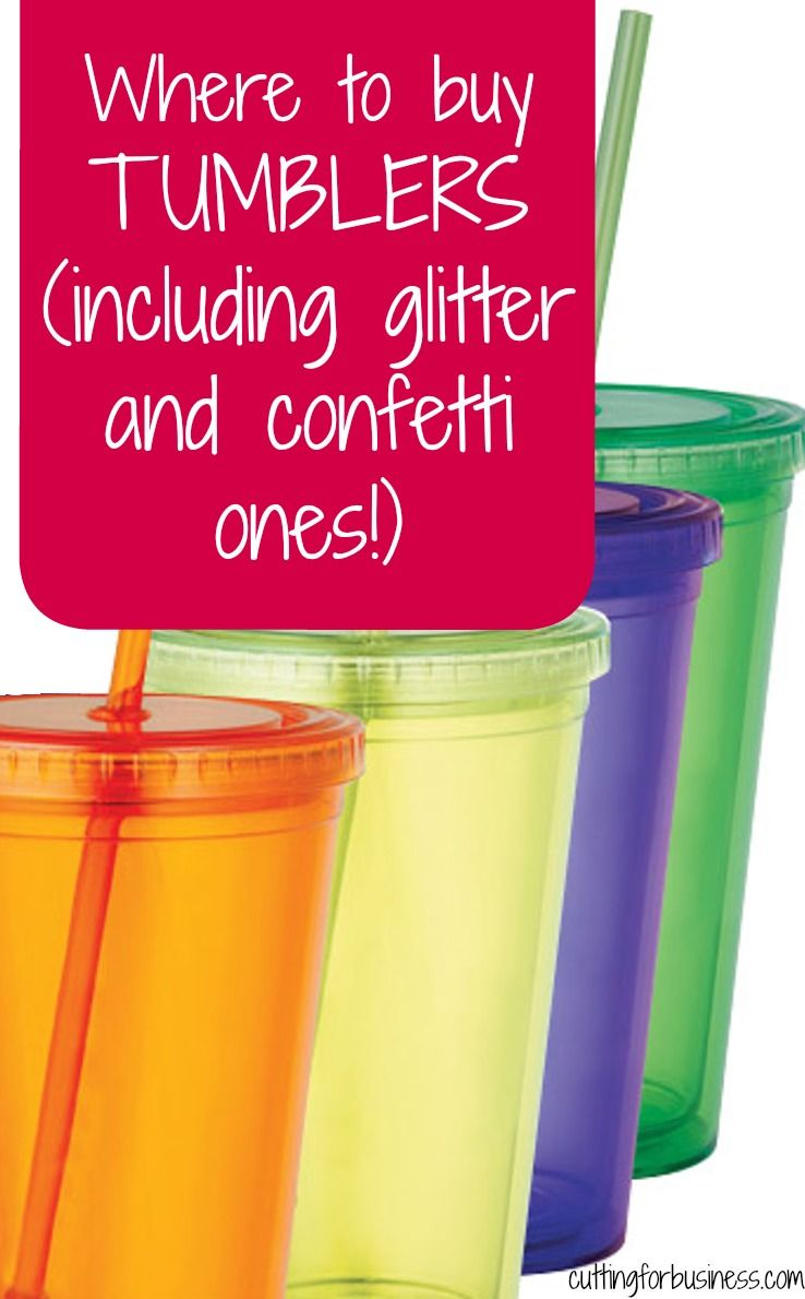where to buy tumblers for silhouette or cricut crafting