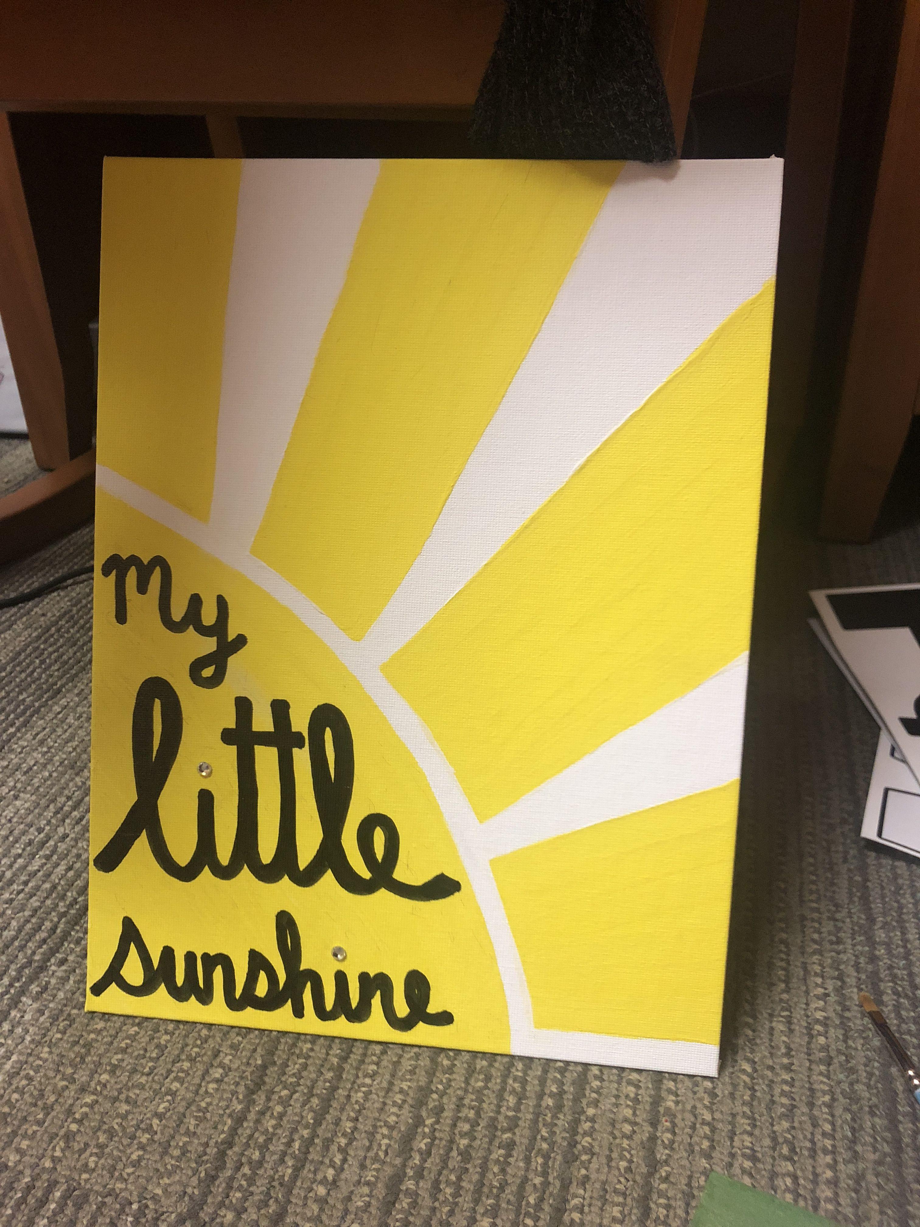 Diy Wall Canvas My Little Sunshine Sorority Big Little Canvas