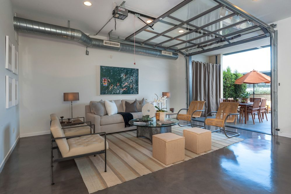 amazing garage living room | 15 Home Garages Transformed Into Beautiful Living Spaces ...