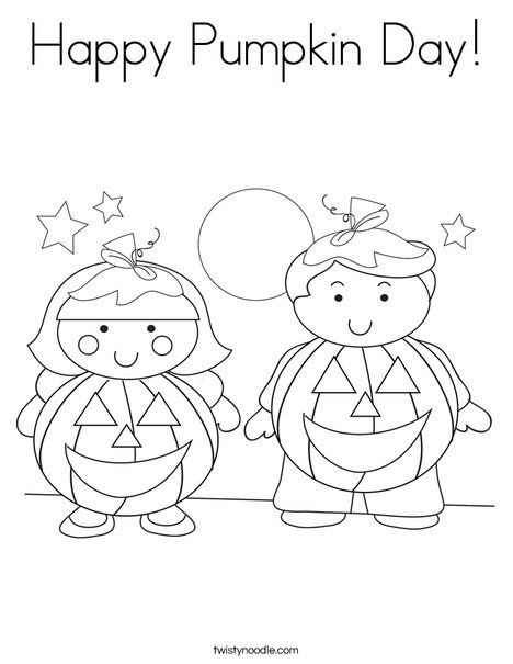 Happy Pumpkin Day Coloring Page from TwistyNoodle.com ...