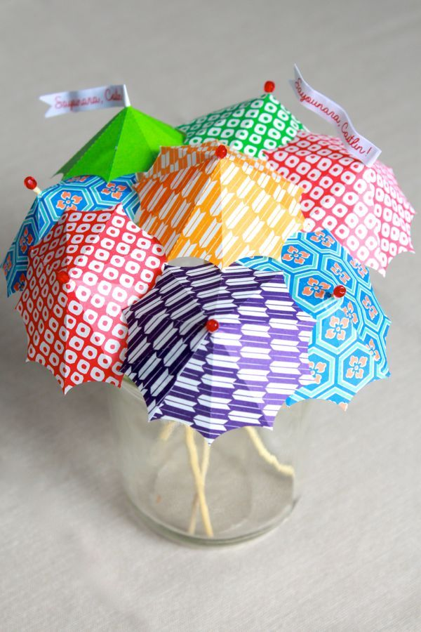 make your own cocktail umbrellas at www.alyssaandcarla.com