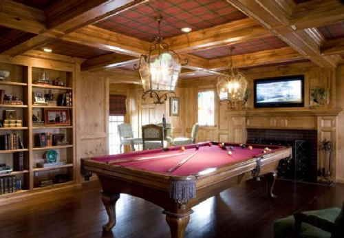 Wood Paneling For Walls Billiards Room By Suzanne Curtis