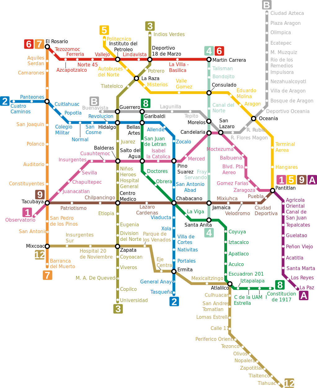 Ideal Nyc Subway Map Efficient.A Quick Dirty Insider Guide To The Best Neighbourhoods In Mexico