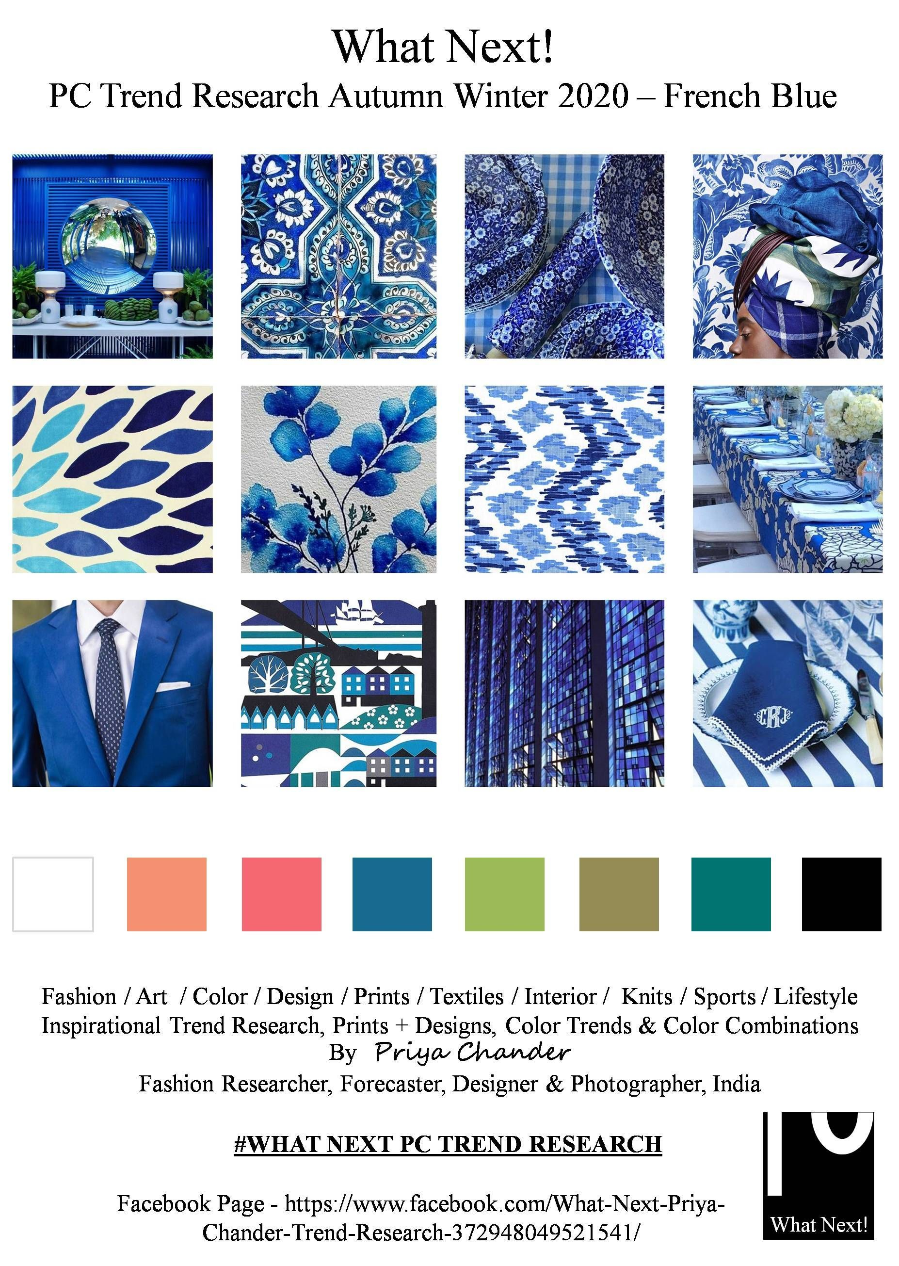 Frenchblue Frenchbluecolor Blue Aw2020 Fashioninspiration Color Trends Fashion Fashion Trend Forecast Color Trends
