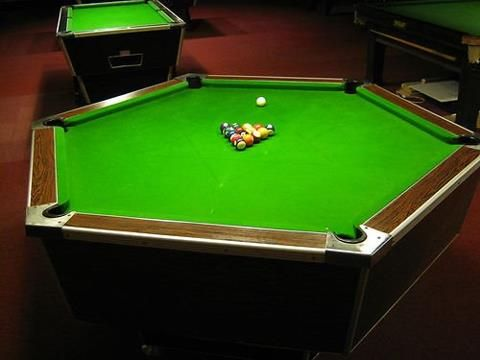 Hexagon Table Diy Pool Table Pool Table Custom Pool Tables