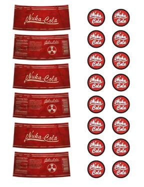 photo relating to Nuka Cola Printable Labels named Nuka Cola Labels PDF Report via AngryRobotsCosplay upon Etsy