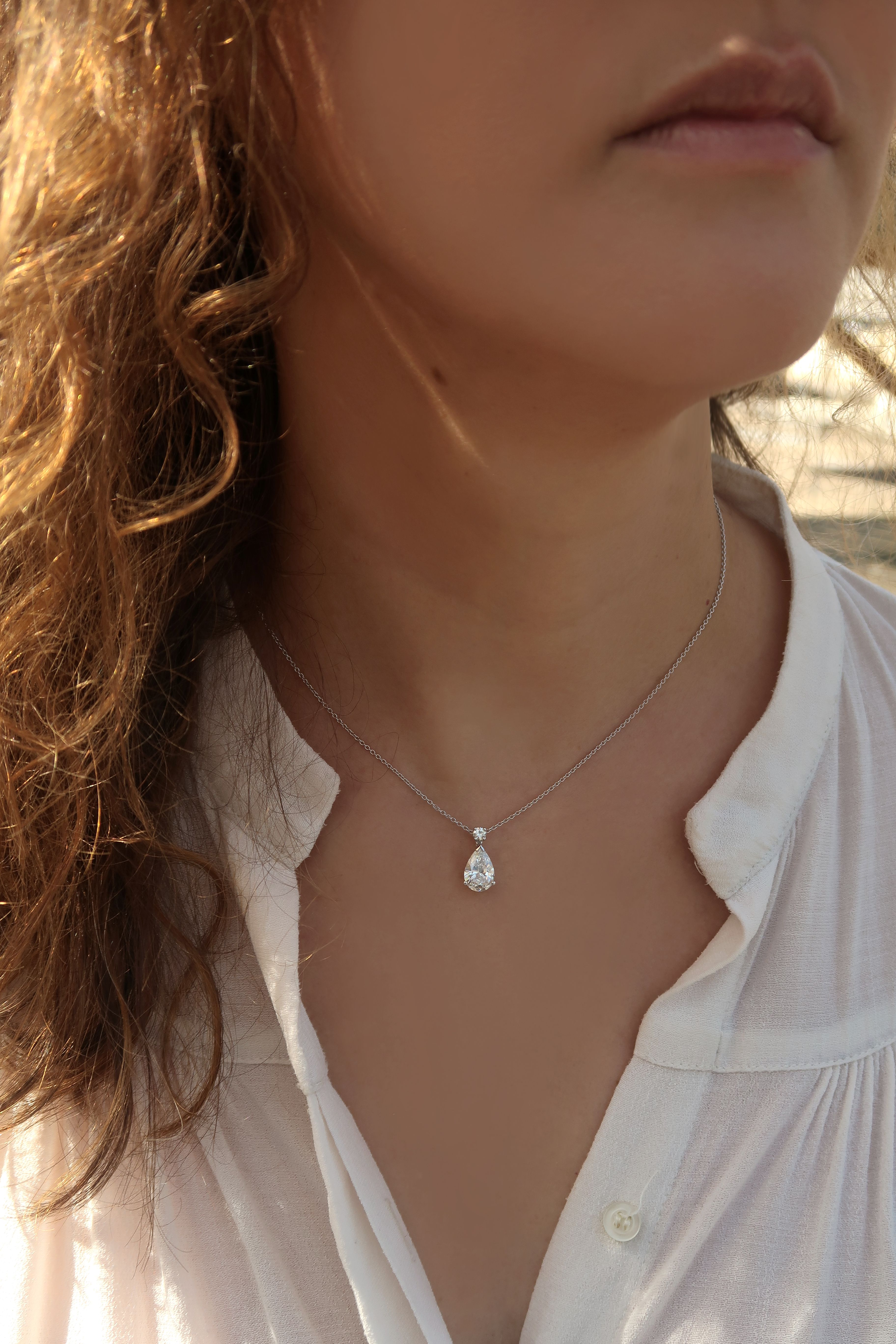 collier or blanc prix