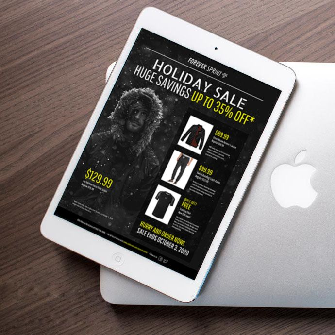 Modern Black  Yellow Holiday Sales Flyer Idea - Venngage Flyer