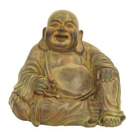 Shop 11.88 In H Buddha Design Garden Statue At Lowes.com