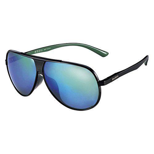 8b3db00af9 PARIM Polarized   UV Protected Plastic  TR 90 Aviator Sunglasses for Men  Model 1015 B4 Medium Size  (62) Lenses  Polarized Flash Mirrored Blue  Frame  Shiny ...