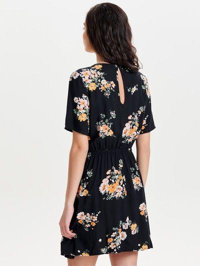 bf8d3d0ba5e8 Printet kortærmet kjole