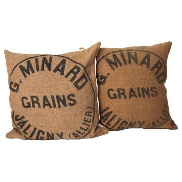 Check out this item at One Kings Lane! French Jute Pillows, Pair